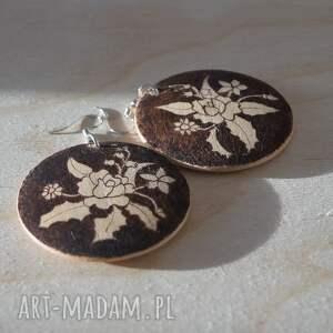 modne kolczyki ikebana motyla - ręcznie wypalane