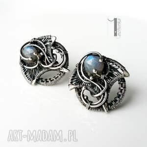 ażurowe kolczyki irideae - srebrne