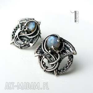 handmade kolczyki srebro irideae - srebrne