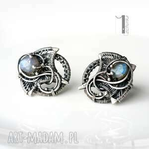kolczyki ażurowe irideae - srebrne