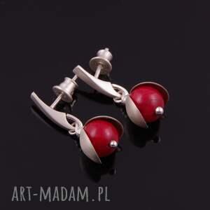 kolczyki jarzębina - srebrne