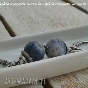 kolczyki z-koralem jeansowe z korala i srebra