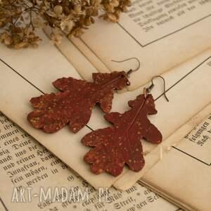 jesienne kolczyki w formie liści