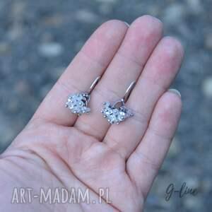 białe herkimer kamień księżycowy i diamenty