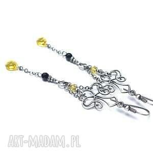 srebro kandelabry /yellow/