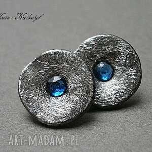sztyfty kolczyki kapsle blue