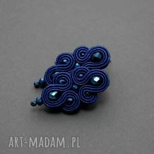 kolczyki sznurek kobaltowe sutasz