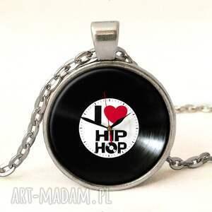 kolczyki czarne kocham hip-hop - wkrętki