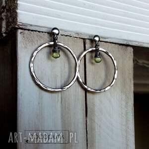 srebrne lekkie kolczyki koła - srebro