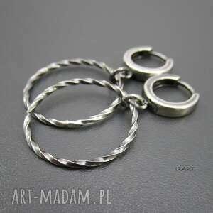 kolczyki srebro koła -
