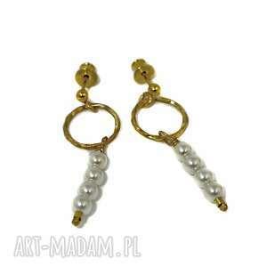 złote perły koła z perłami