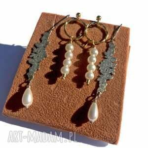 925 kolczyki, sztyfty z białymi perłami