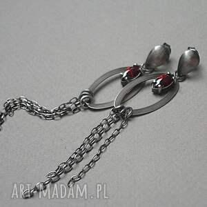 srebrne kolczyki srebro komety -