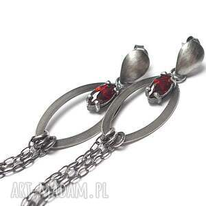 kolczyki srebro komety -