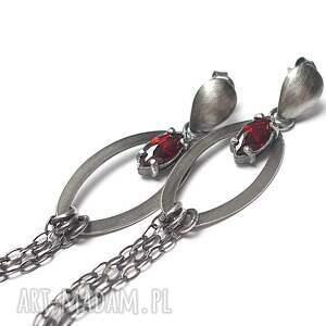 handmade kolczyki srebro komety -