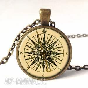 kompas kolczyki - małe wiszące