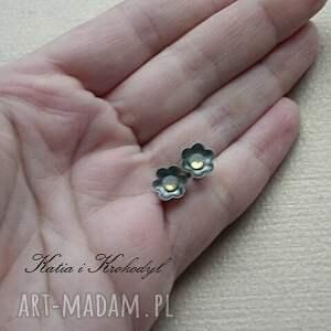 kolczyki swarovski kwiatuszki - mgiełki