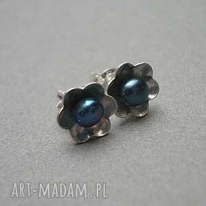 turkusowe srebro kwiatuszki perłowe - blue vol.