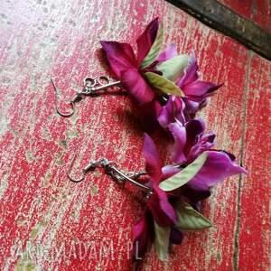 kwiaty kolczyki etno boho długie