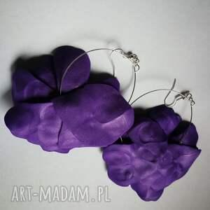 urokliwe kwiaty kolczyki etno maki lekkie
