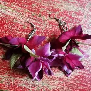 etno kolczyki kwiaty boho długie