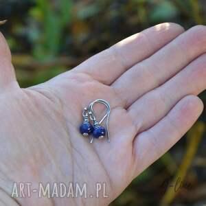 lapis lazuli. krótkie kolczyki