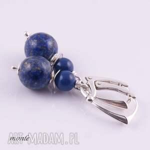 kolczyki granatowe lapis lazuli