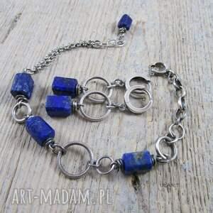 srebro lapis lazuli na kole
