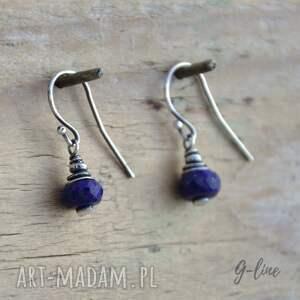 srebro lapis lazuli. krótkie kolczyki