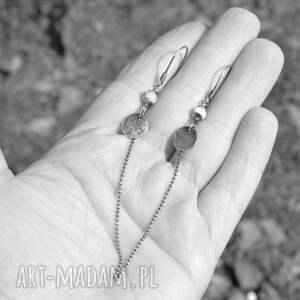 kolczyki srebro larimar długie srebrne