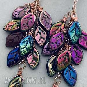 kolorowe modne kolczyki laura