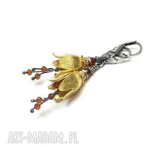 srebrne pozłacane leśne dzwonki - ginger