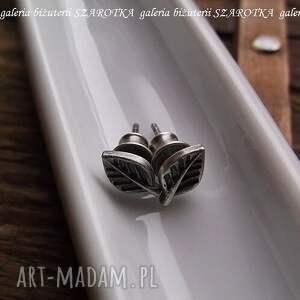 oksydowane liściaste sztyfty ze srebra