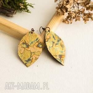 atrakcyjne kolczyki liście glamorous