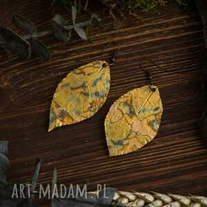 liść kolczyki liście glamorous