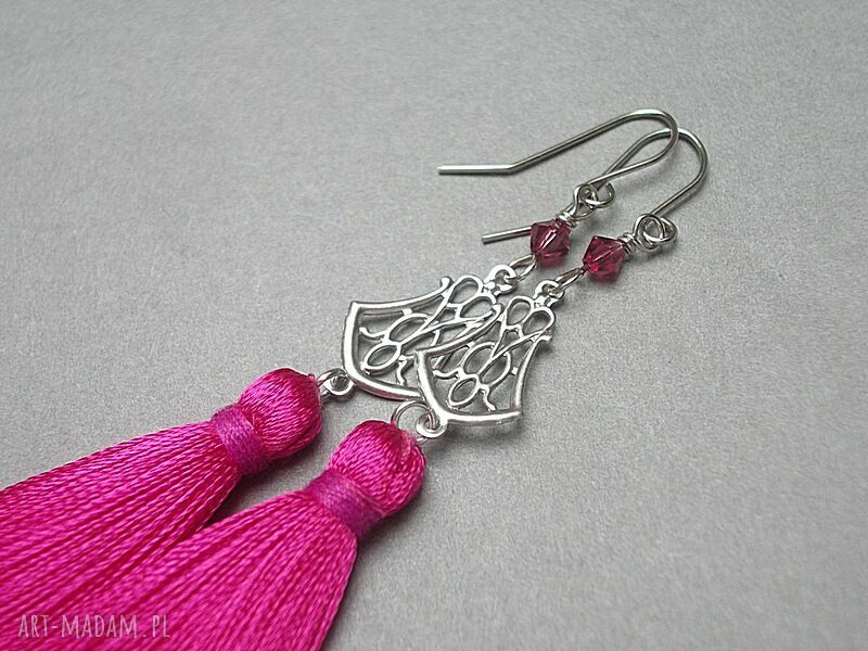 kolczyki - alloys collection /boho/ l pink