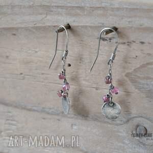 kolczyki turmalin małe szlachetne - różowy