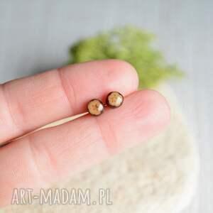 dąb brązowe maleńkie dębowe kolczyki