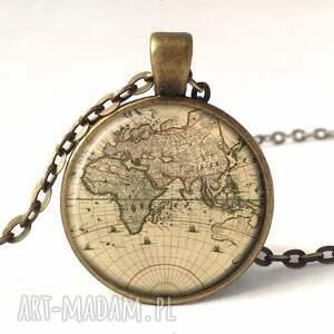 kolczyki mapa świata - duże wiszące