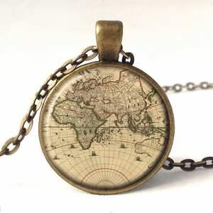 mapa kolczyki świata - małe wiszące