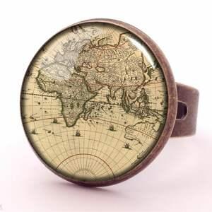kolczyki mapa świata - małe wiszące