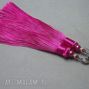 srebro oksydowane różowe maxi boho /fuksja/