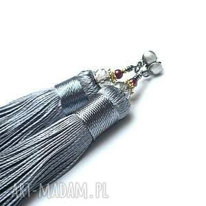boho maxi /grey/ - kolczyki