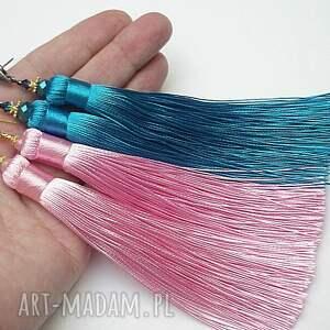 kryształki kolczyki maxi boho /pink/ -