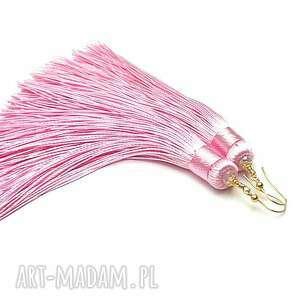 różowe kolczyki srebro maxi boho /pink/ -