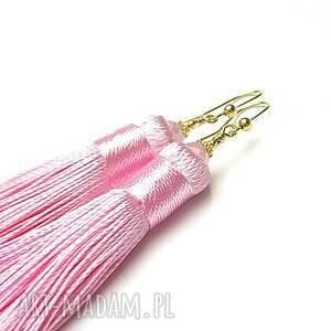 wyjątkowe kolczyki srebro maxi boho /pink/ -