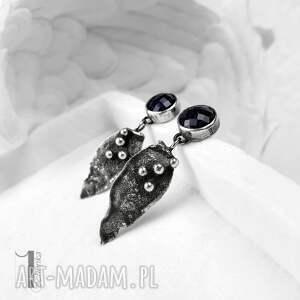 handmade kolczyki kolczyki-srebrne midnight - srebrne noc