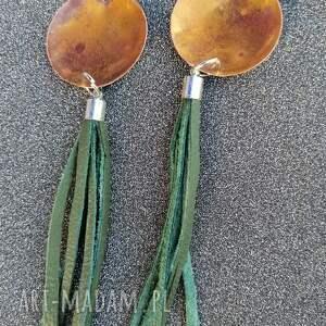 miedziane kolczyki z zip ymi