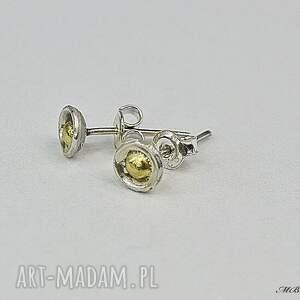 złote kolczyki mini kropki 2