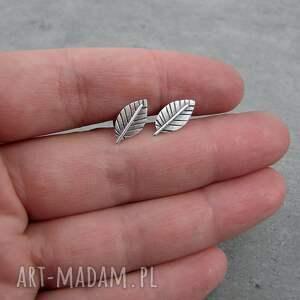 unikalne sztyfty mini silver leaves